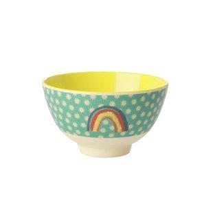 Rice Melamine bowls Rainbow and stars