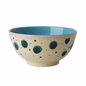 Rice Medium Melamine Bowl Watercolor Splash Print