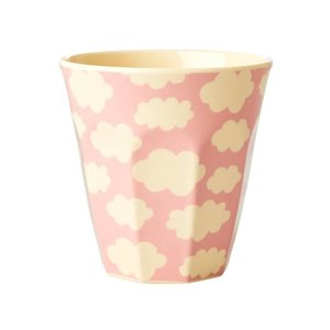 Rice - Melamine cup - Wolk print pink