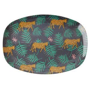 Rice-langwerpig-bord-/-Schaal-Luipaard