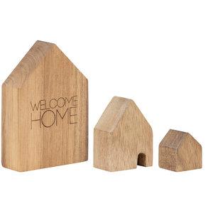 Rader - Huisjes set - hout