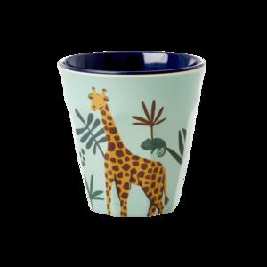 Rice - Kleine melamine kids cup - groene giraf