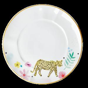 Rice - porseleinen bord - luipaard 28 cm