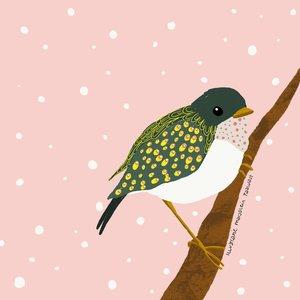 MarjoMaakt - Kaart - Klein vogeltje