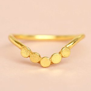 Muja-Juma-Ring-verguld - V-vorm - maat 52