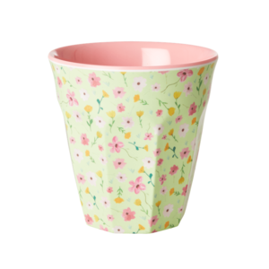 RICE - Melamine Cup- Kleine bloemetjes - groen