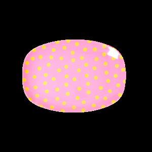 Rice - Small melamine bord - Oranje dot