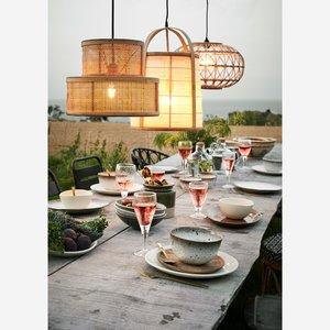 Madame Stoltz -Bamboe hanglamp met linnen