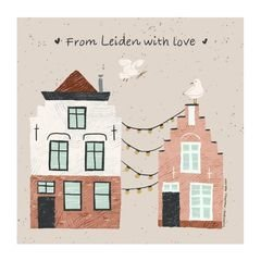 MarjoMaakt - Postcard - From Leiden with Love
