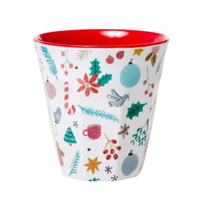 RICE - Melamine Cup- All over Christmas
