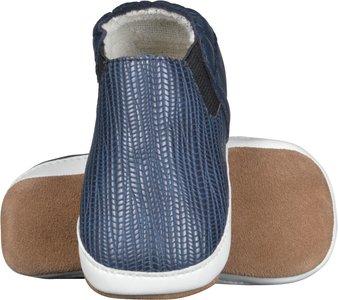 Melton leren schoen blauw