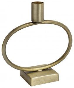 Nordal - Kandelaar op cirkel - Brass