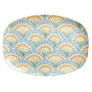 Rice langwerpig bord Flower fan print